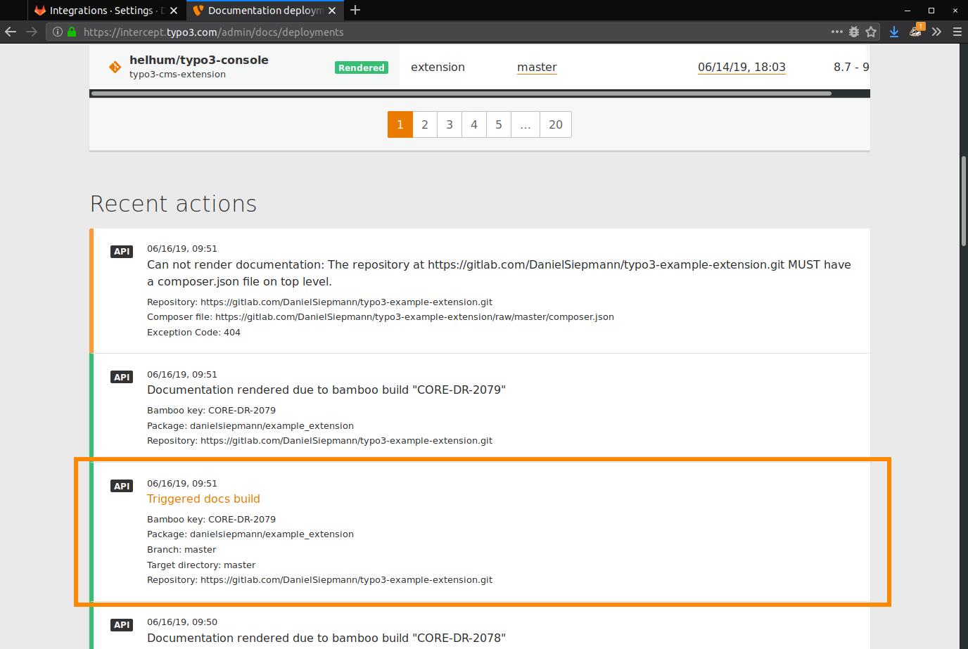 Webhook — Writing Documentation 2 0 0 documentation