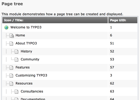 Rendering page trees — TYPO3 Explained 8 7 documentation