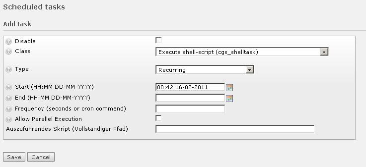 EXT: Scheduled shell scripts — cgs_shelltask 0 2 3 documentation