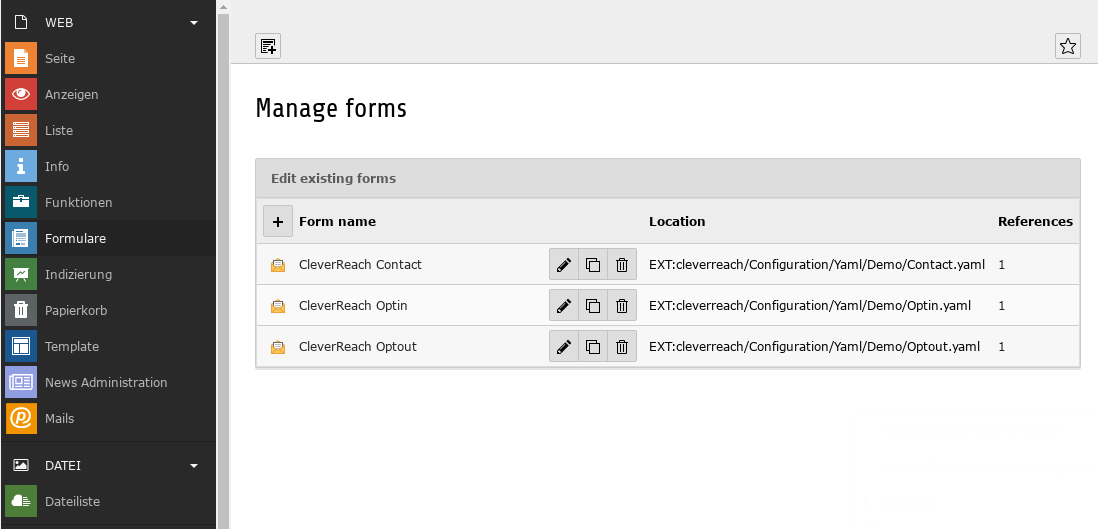Form: How to start — cleverreach 0 1 2 documentation