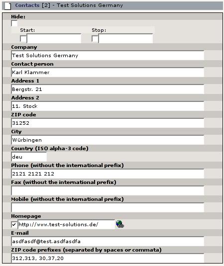 EXT: Contacts List — contactslist 0 5 0 documentation