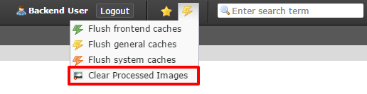 Clear processed images