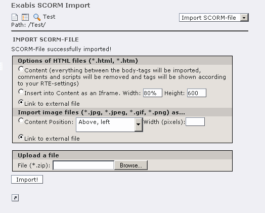 EXT: SCORM Import — exabis_scorm 1 0 4 documentation