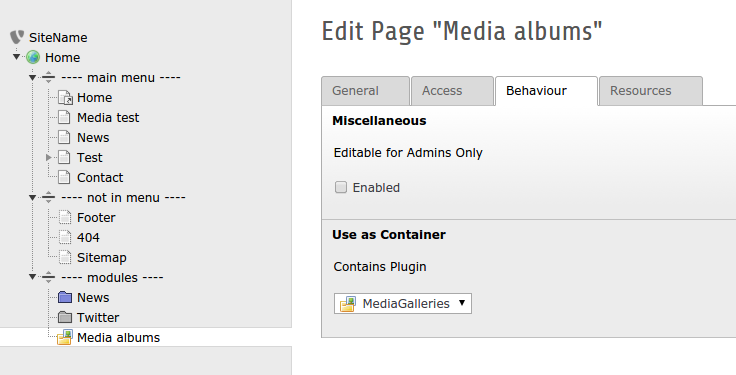 "Set ""Contains Plugin"" to ""MediaGalleries"""