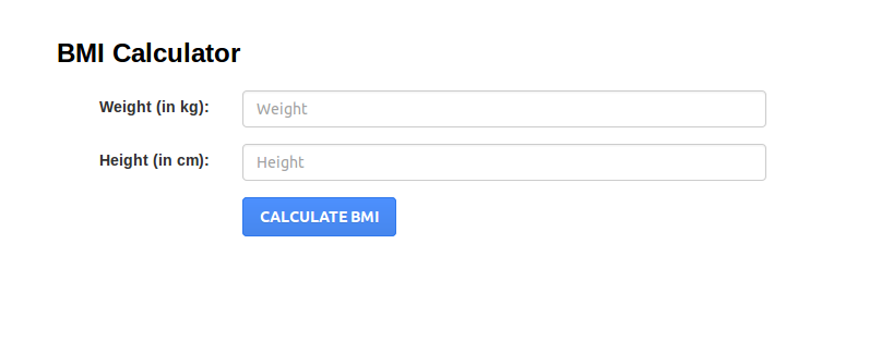 how to build for on java for bmi calculator