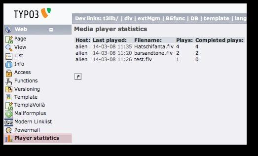EXT: Media player statistics — mediaplayerstatistics 2 0 0
