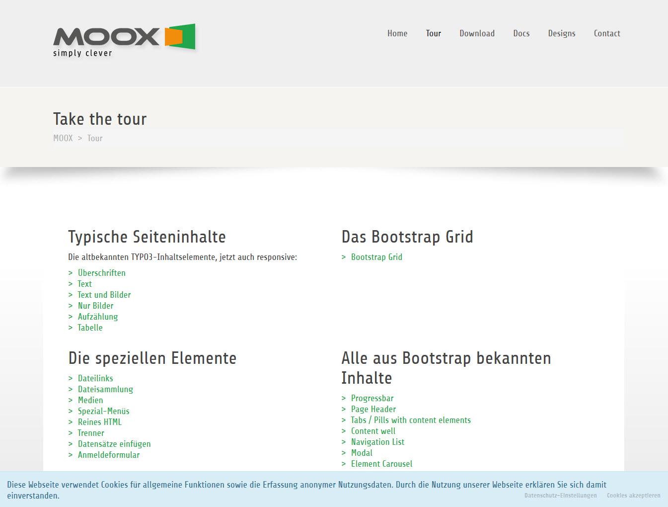 screenshots moox core 1 0 1 documentation