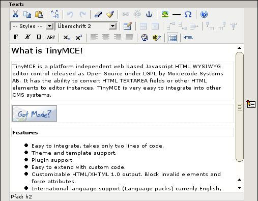 RTE: TinyMCE — rte_tinymce 0 1 0 documentation
