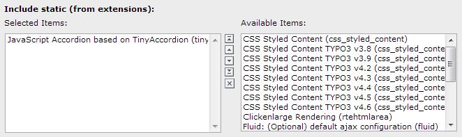 EXT: JavaScript Accordion - based on TinyAccordion